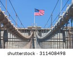 United States Flag At Top Of...