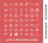 love  wedding outline concept... | Shutterstock .eps vector #311410346