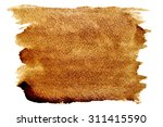 coffee strokes isolated over... | Shutterstock . vector #311415590