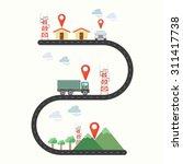 renewable energy graphic line 2 | Shutterstock .eps vector #311417738