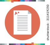 good grades icon  a plus sign... | Shutterstock .eps vector #311419250