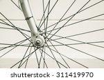 close up of bicycle wheels... | Shutterstock . vector #311419970