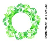 green round vector frame with... | Shutterstock .eps vector #311426930