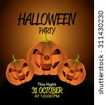 halloween party design  vector... | Shutterstock .eps vector #311430230