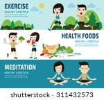 exercise.healthy foods.... | Shutterstock .eps vector #311432573