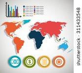 world infographic design ... | Shutterstock .eps vector #311433548