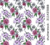 seamless floral pattern on... | Shutterstock . vector #311435888