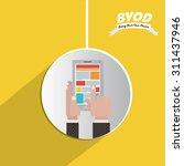 byod digital design  vector... | Shutterstock .eps vector #311437946