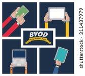 byod digital design  vector... | Shutterstock .eps vector #311437979