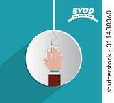 byod digital design  vector... | Shutterstock .eps vector #311438360