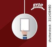 byod digital design  vector... | Shutterstock .eps vector #311438480