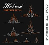 set of two tone vintage pin... | Shutterstock .eps vector #311439710