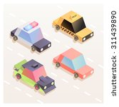 set of colorful isometric car... | Shutterstock .eps vector #311439890