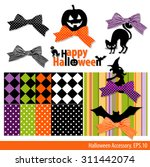 vector collection of halloween... | Shutterstock .eps vector #311442074