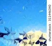 low polygon triangle pattern...   Shutterstock . vector #311446340
