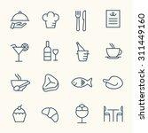 restaurant line icons | Shutterstock .eps vector #311449160