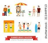 flat style modern beach... | Shutterstock .eps vector #311449913