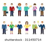 flat style modern people icons... | Shutterstock .eps vector #311450714