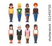 female character. women in...   Shutterstock .eps vector #311453720