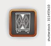 cabinet doodle | Shutterstock .eps vector #311455610