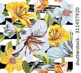 vector seamless floral hand... | Shutterstock .eps vector #311457920