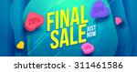 final sale banner design. sale... | Shutterstock .eps vector #311461586