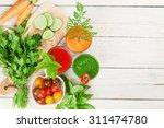 Fresh Vegetable Smoothie On...