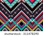 geometric ethnic pattern... | Shutterstock .eps vector #311478290