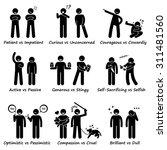 human personalities opposite...   Shutterstock . vector #311481560