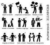 human opposite behaviour... | Shutterstock . vector #311484368