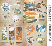 set infographic on the topic of ... | Shutterstock .eps vector #311490314
