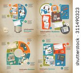 set infographic on the topic of ...   Shutterstock .eps vector #311490323