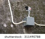 security camera over aluminum...   Shutterstock . vector #311490788