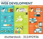 big set of infographics  vector ... | Shutterstock .eps vector #311492936