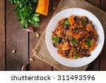 mexican vegan vegetable pilaf... | Shutterstock . vector #311493596