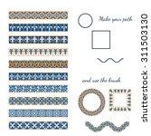 vector illustration of moroccan ... | Shutterstock .eps vector #311503130