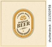 retro vintage beer logotype... | Shutterstock .eps vector #311503958
