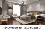 elegant hotel room suite with... | Shutterstock . vector #311505050
