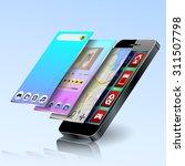 vector mobile app development | Shutterstock .eps vector #311507798