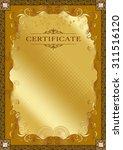 frame certificate | Shutterstock . vector #311516120