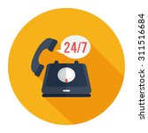 24 7  old phone service | Shutterstock .eps vector #311516684