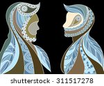 ethnic stylized patterned... | Shutterstock . vector #311517278