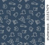seamless pattern   funny... | Shutterstock . vector #311517479