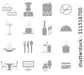restaurant icons set... | Shutterstock .eps vector #311518700