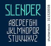 slender  thin style font vector ... | Shutterstock .eps vector #311520038