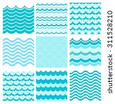 collection of marine waves. sea ... | Shutterstock .eps vector #311528210