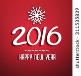 happy new year background with... | Shutterstock . vector #311535839
