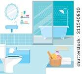 Bathroom Interior And Furnitur...