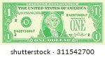 one dollar bank mote vector... | Shutterstock .eps vector #311542700