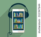 concept of audio book. book...